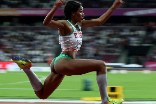 Atletismo: Patricia Mamona atinge recorde pessoal no salto em comprimento
