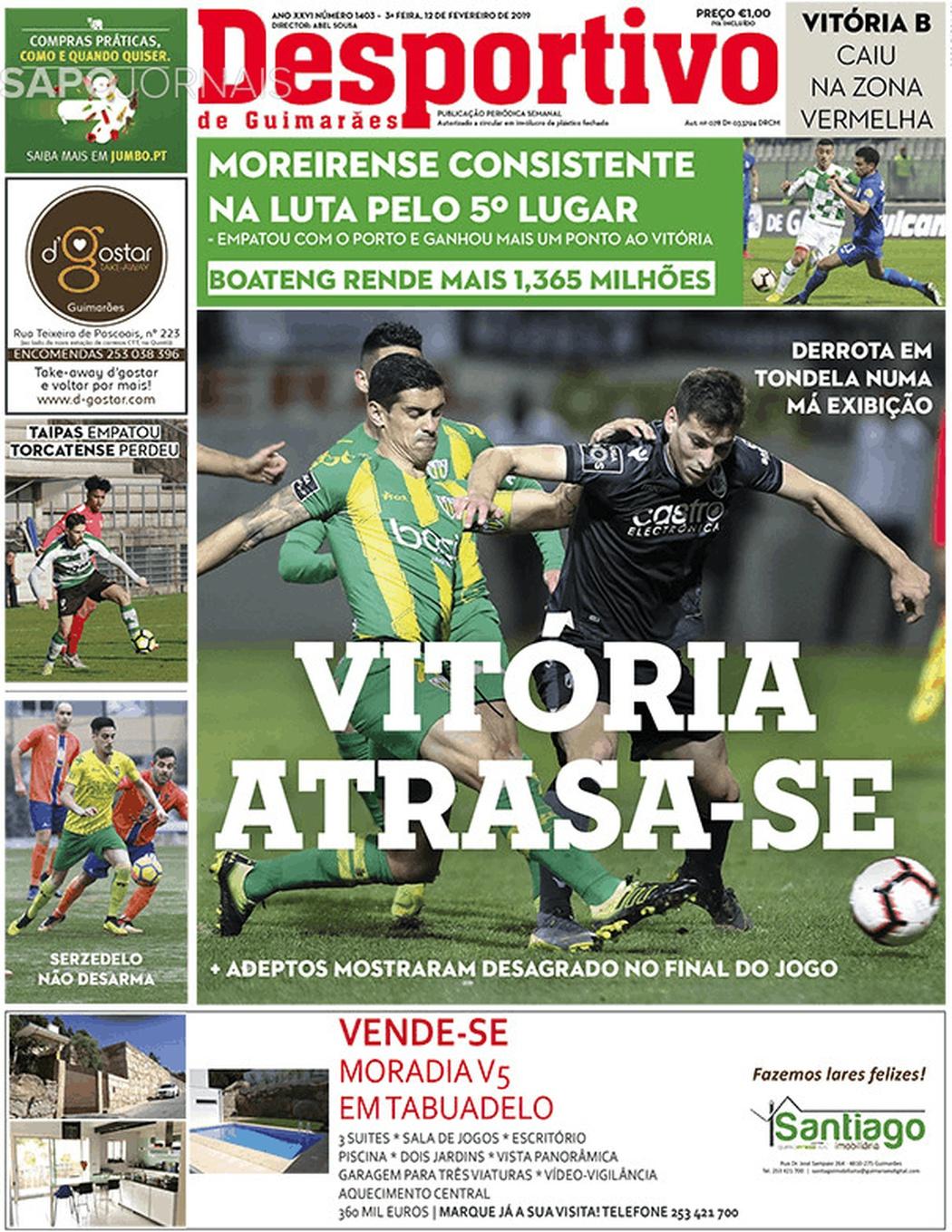 Banca De Jornais Desportivo De Guimarães 12 02 2019 Futebol 365