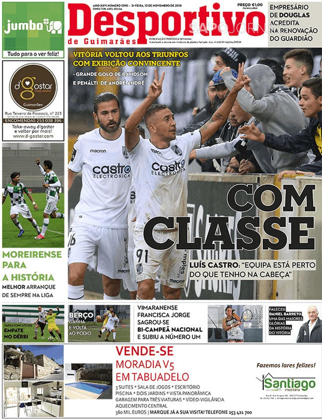 Banca De Jornais Desportivo De Guimarães 13 11 2018 Futebol 365