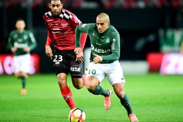França: Saint-Étienne bate Guingamp pela margem mínima e iguala Lyon
