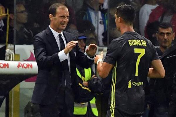 Massimiliano Allegri confirma ausência de Ronaldo no jogo do título da Juventus