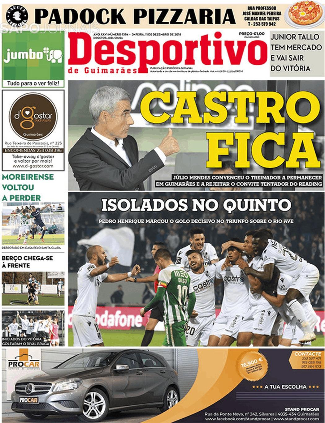 Banca De Jornais Desportivo De Guimarães 11 12 2018 Futebol 365