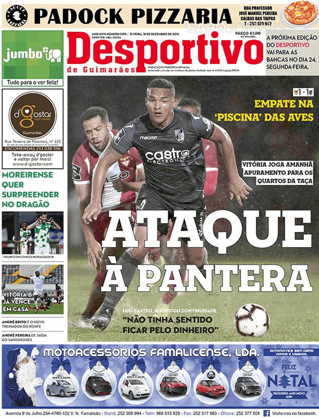 Banca De Jornais Desportivo De Guimarães 18 12 2018 Futebol 365