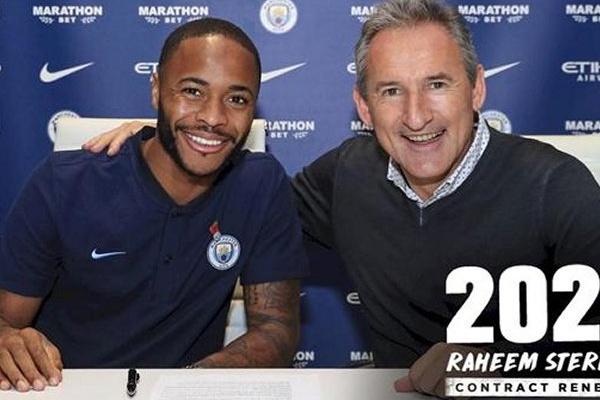 Manchester City renova com Sterling até 2023