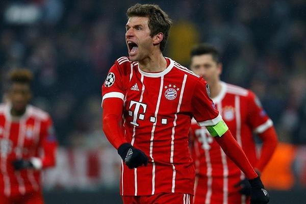Thomas Müller falha eliminatória com o Liverpool