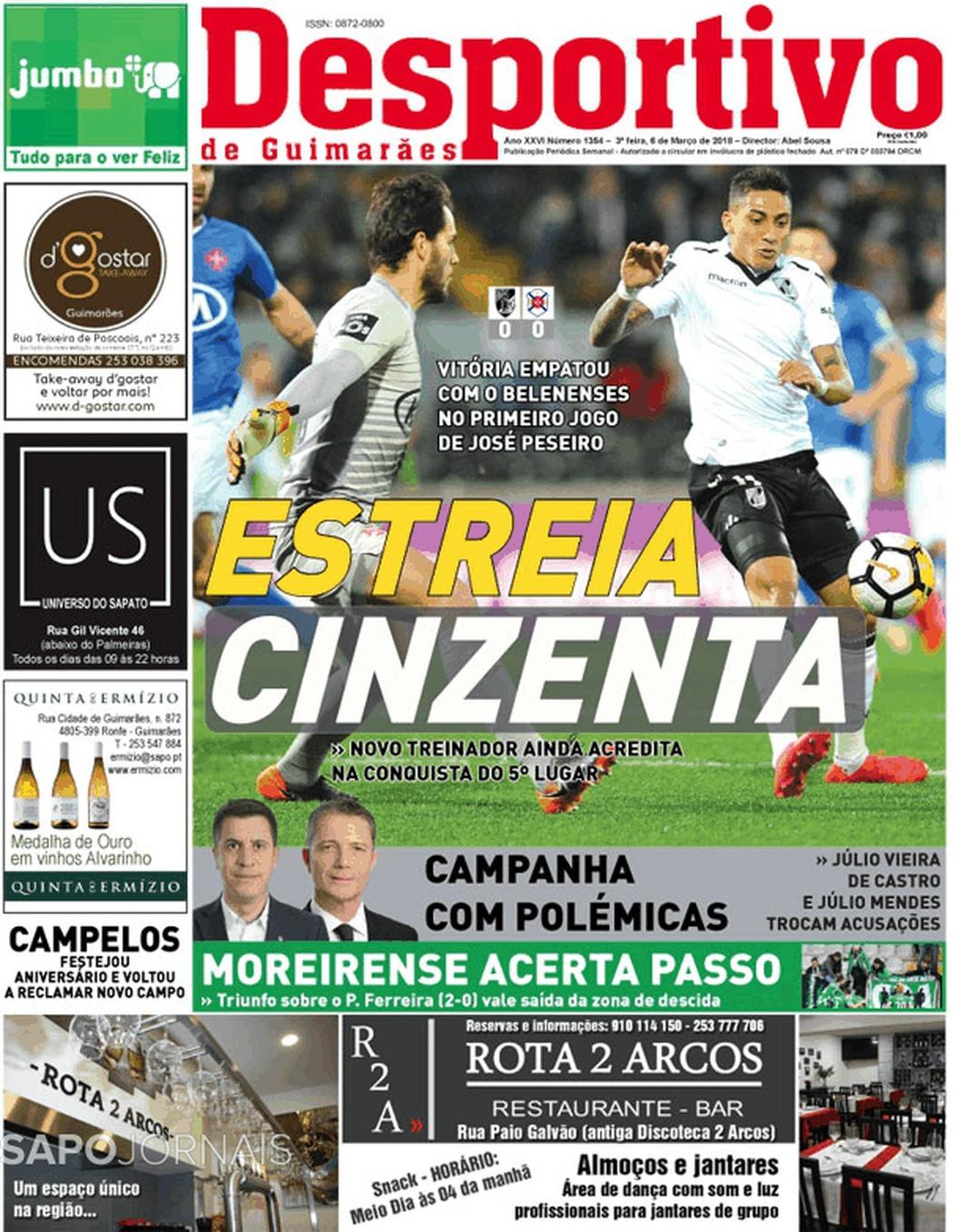 Banca De Jornais Desportivo De Guimarães 06 03 2018 Futebol 365