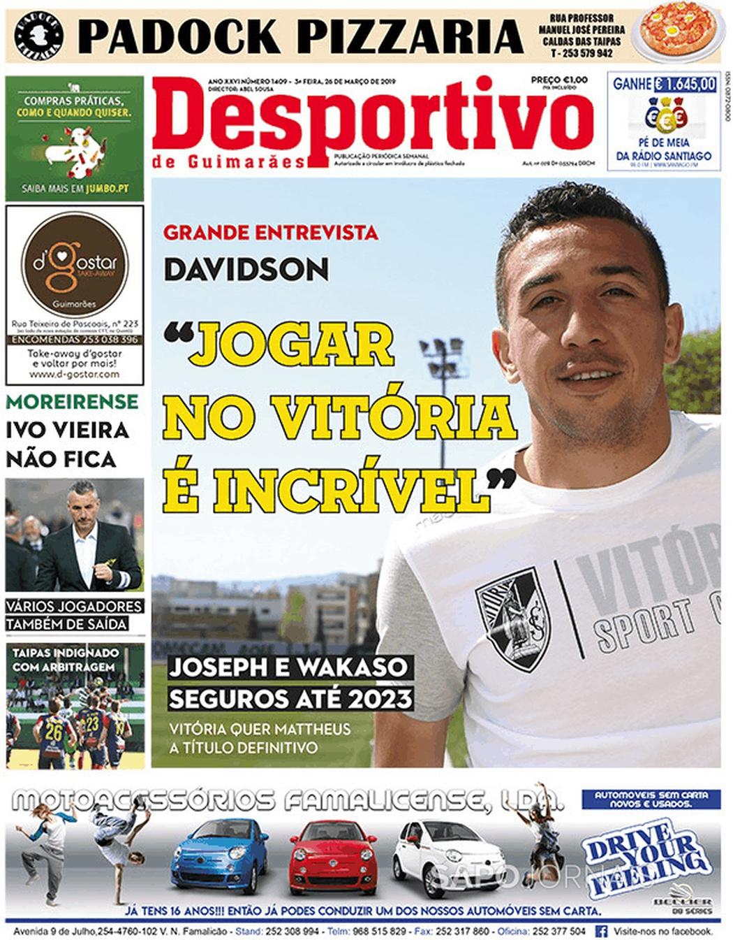 Banca De Jornais Desportivo De Guimarães 26 03 2019 Futebol 365