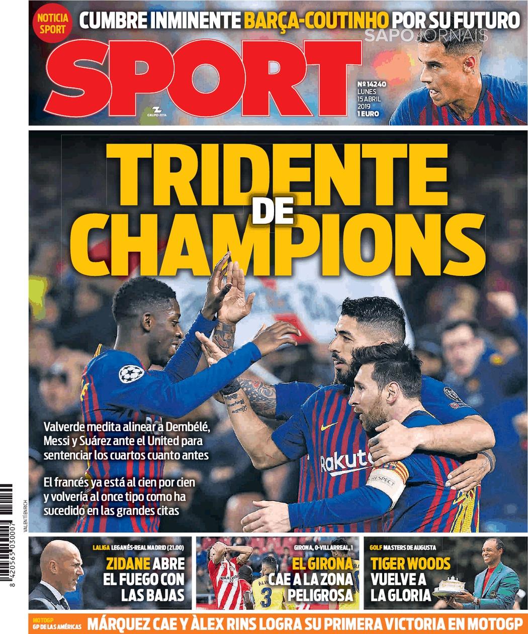 Banca De Jornais Sport 15 04 2019 Futebol 365