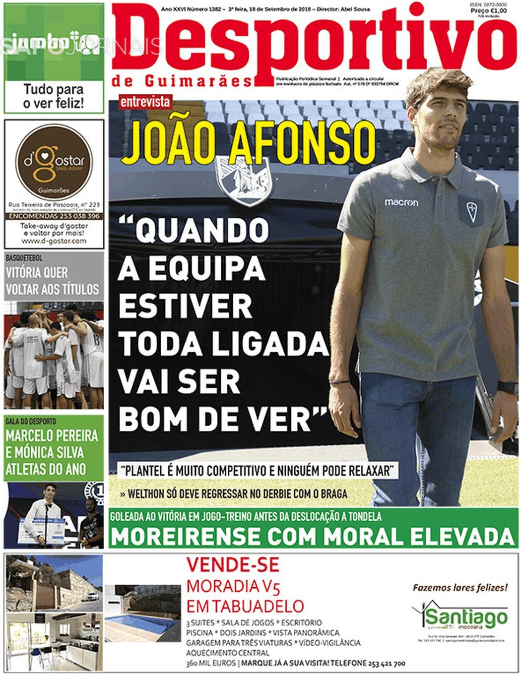 Banca De Jornais Desportivo De Guimarães 18 09 2018 Futebol 365