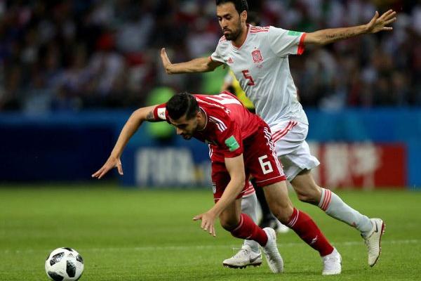 Mundial-2018: Membro da seleção iraniana hospitalizado durante jogo com Espanha