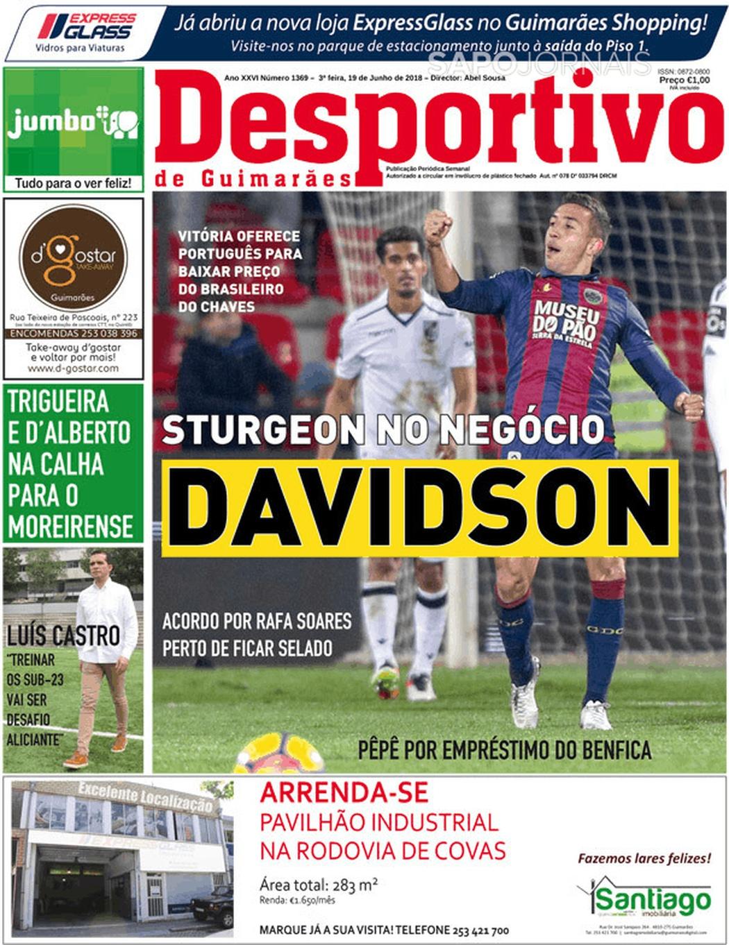Banca De Jornais Desportivo De Guimarães 19 06 2018 Futebol 365