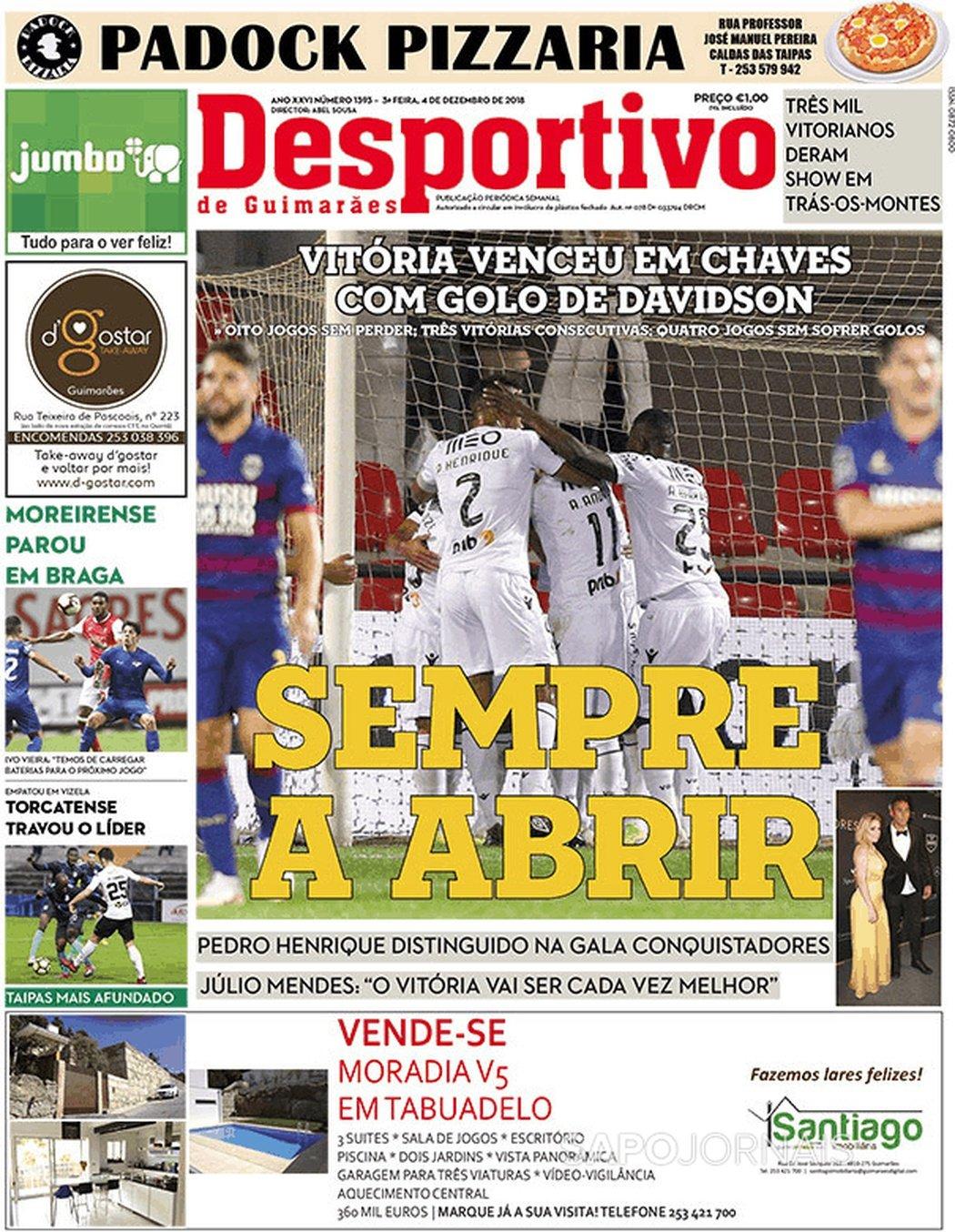 Banca De Jornais Desportivo De Guimarães 05 12 2018 Futebol 365