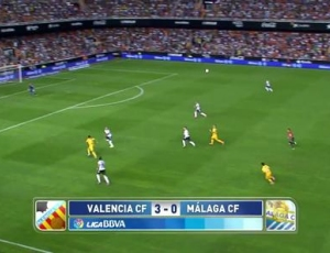 Liga BBVA: Valência 3 - 0 Málaga (2014-2015)