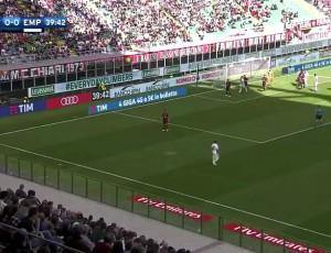 Serie A: Milan 1 - 2 Empoli (2016-2017)