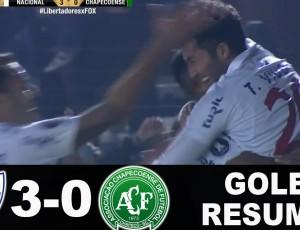 Copa Libertadores: Nacional Montevideo 3 - 0 Chapecoense (2017)