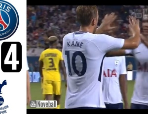Amigáveis de clubes: PSG 2 - 4 Tottenham (2017-2018)