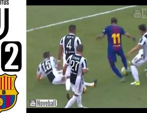 Amigáveis de clubes: Juventus 1 - 2 Barcelona (2017-2018)