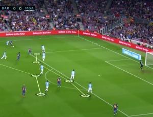 La Liga: Barcelona 2 - 0 Málaga (2017-2018)